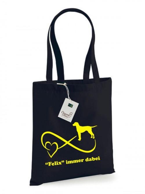 Baumwolltasche mit Hundemotiv gestalten von anfalas.de