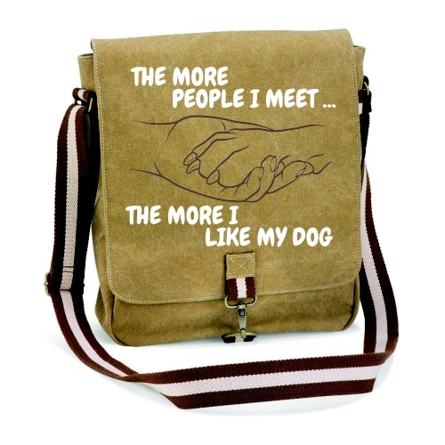 """Canvas-Tasche """"The more people"""""""