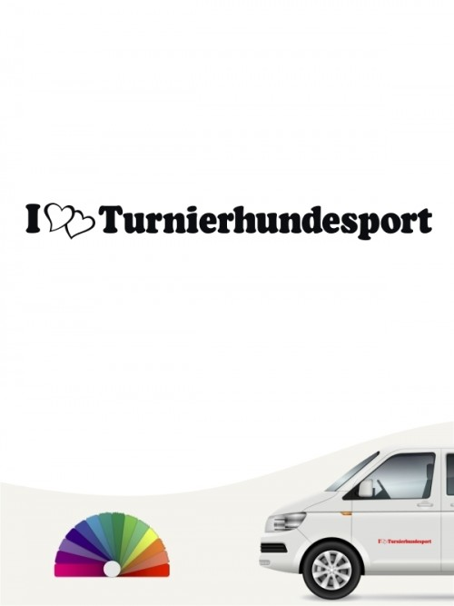 I love Turnierhundesport Aufkleber