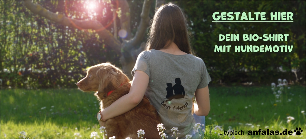 Bio-Shirt mit Hundemotiv