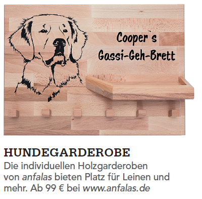 Leinengarderobe mit Hundemotiv anfalas.de