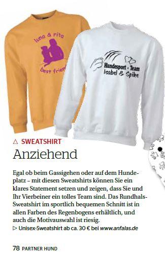 Sweatshirt für Hundehalter anfalas.de